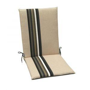 Coussins pour fauteuils haut dossier Samoa JARDIN PRIVÉ galet