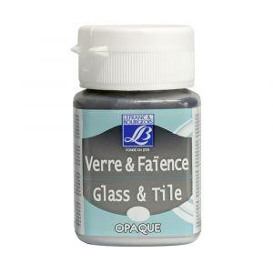 Peinture Lefranc & Bourgeois verre & faience opaque 50ml argent