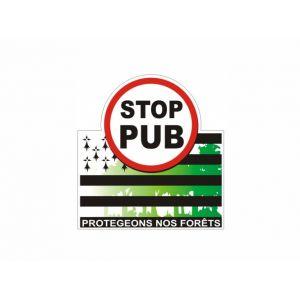 Autocollant «Stop Pub» drapeau breton