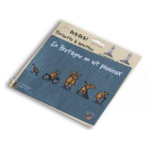 Chiffon essuie-lunettes «En Bretagne on vit pluvieux»