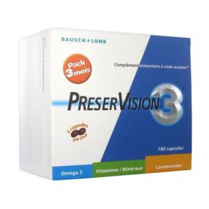 Bausch&Lomb PreserVision 3 180 capsules