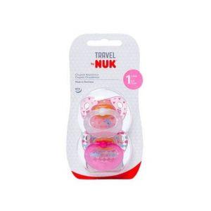 Sucette de voyage Nuk Taille 1 Latex 2 unités