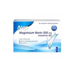 NEP Magnésium Marin 300 mg Vitamine B6 30 comprimés
