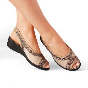 Sandales tissu extensible