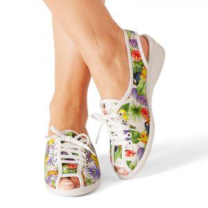 Sandale imprimée à lacets
