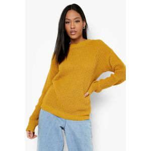 Pull En Maille Gaufrée Tall - moutarde - S, Moutarde