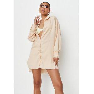 Robe chemise pêche texturée, Pêche Pêche - Taille 6