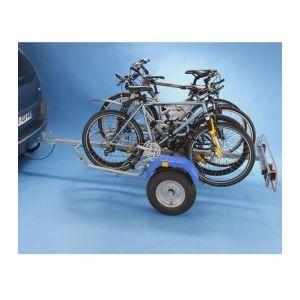 Remorque velo a 2 roues pour 4 velos ou transport de valises, colis, etc