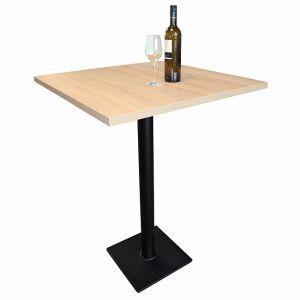 Table haute de bar CAVEPRO, H 111,8 cm, chêne clair