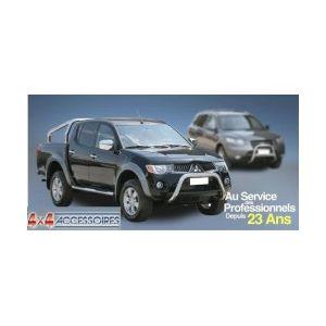 PARE CHOC ARRIERE INOX Ø 76 MITSUBISHI L200 2006- DOUBLE CAB