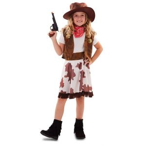 COWGIRL BANDEAU ROUGE-TAILLE 7/9 ANS