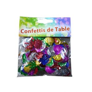 CONFETTIS COQUILLAGES MULTICOLORES 14 GRS