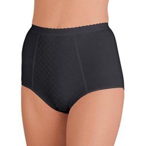Slip culotte gainant chic à motifs jacquard noir