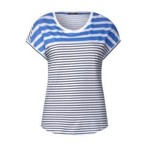 T-shirt rayé - cornflower bleu