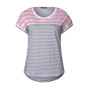 T-shirt rayé - soft rose