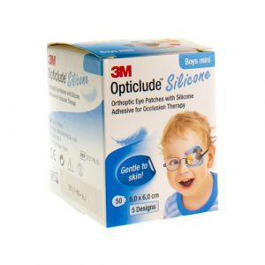 Opticlude silicone boys mini 5cmx6cm