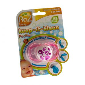 Raz baby keep-it-kleen sucette rose pacifier