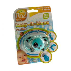 Raz baby keep-it-kleen pacifier sucette puppy