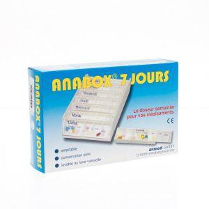 Anabox pilulier 7 jours blanc