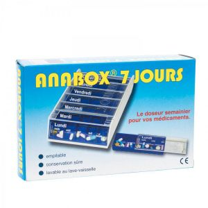Anabox pilulier 7 jours bleu