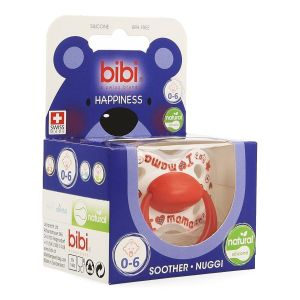 Bibi Happiness Natural I love mama / papa is the best sucette 0-6