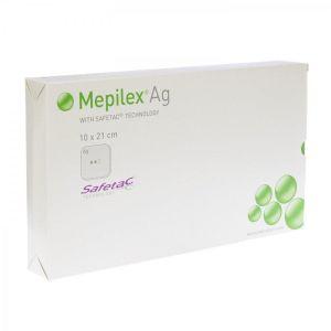 Mepilex Ag pansement 10cmx21cm
