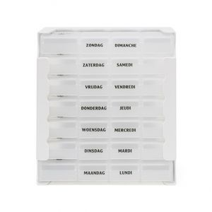 Pilulier Eureka care transparent 1 semaine