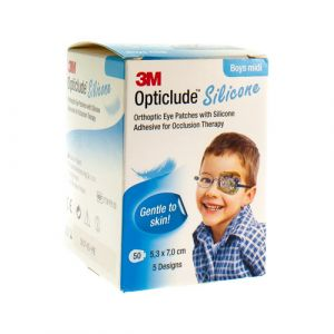 Opticlude silicone boys midi 5,3cmx7cm