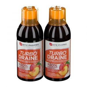 Forté Pharma Turbodraine Thé Vert-Pêche Duopack