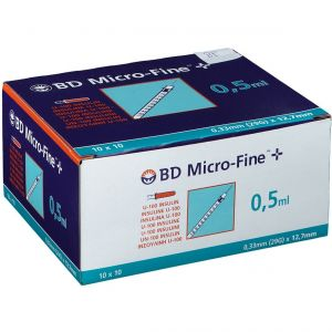 BD Microfine+ Seringue Insuline 0.5ml 29g 12.7mm