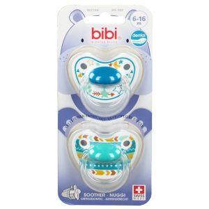 bibi® Happiness Tétine Dentale en silicone 6-16 mois (Couleur non séle 7610472862841