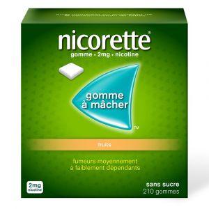 Nicorette® Gomme 2 mg Fruit sans sucre