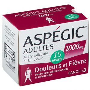 Aspégic® Adultes 1000 mg 15 pc(s)