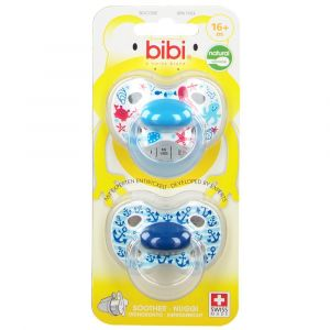 bibi® Happiness Tétine Naturale en silicone +16 mois (Couleur non séle 7610472862780