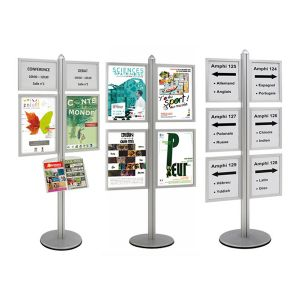 Info-Displays® double-face 8 x A3 sur pied