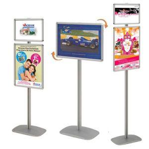 Porte-affiches Cadro-Clic® A4 + A3 sur pied H 158 cm