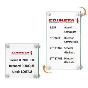 Plaque signalétique CristalSign® 300 x 420 x 30 mm