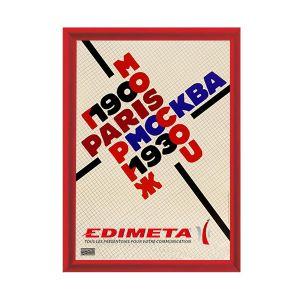 Cadre Clic-Clac 80 x 120 cm ROUGE