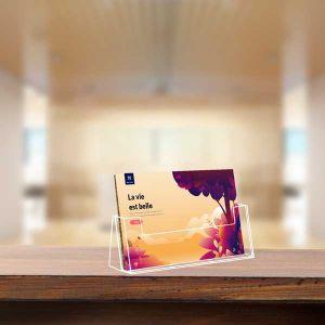 Porte-brochures comptoir Taymar® 1 case A4 Paysage
