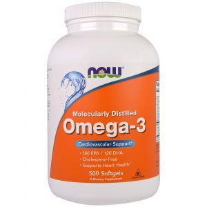 Omega-3 (500 Softgels) - Now Foods