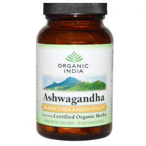 Organic India, Organique Ashwagandha, Veggie 90 Caps