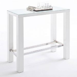 Table de bar design JANIS 120cm blanche