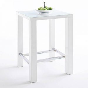 Table de bar design JANIS 80cm blanche