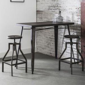 Table de bar 120*60 cm INDUSTRY style industriel en acier