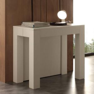 table console extensible blanc comparer 80 offres. Black Bedroom Furniture Sets. Home Design Ideas