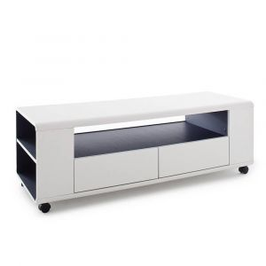 Meuble tv gris anthracite comparer 64 offres for Meuble tv roulettes