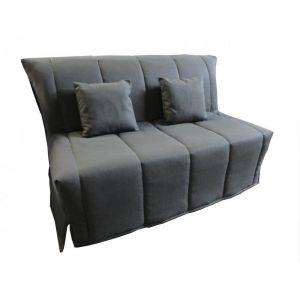 Canapé BZ convertible FLO gris 160*200cm matelas confort BULTEX inclus