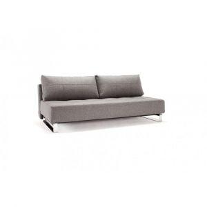 Canapé d'angle design SUPREMAX DELUXE EXCESS LOUNGER gris Twist Charcoal convertible lit 155*200 cm