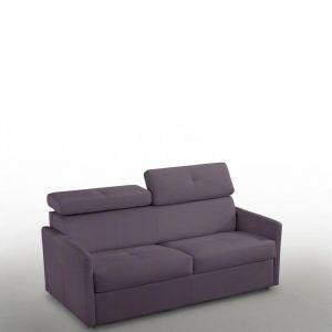Canapé 2-3 places PARIS 120cm Tweed purple COUCHAGE RAPIDO matelas 16 cm
