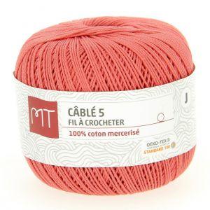 Fil à crocheter n°5 corail